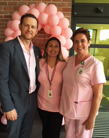 Dr. Linville, Office Manager Monica Garcia and Dr. Miltenburg, October 2018