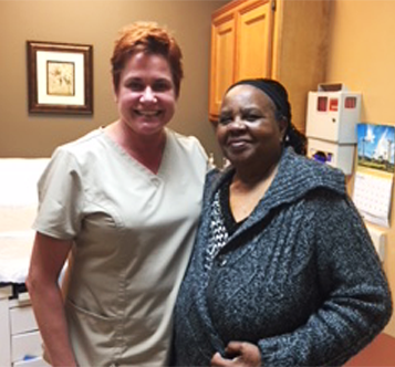 Dr. Miltenburg and Patient patient from Nigeria after surgery, September 2018