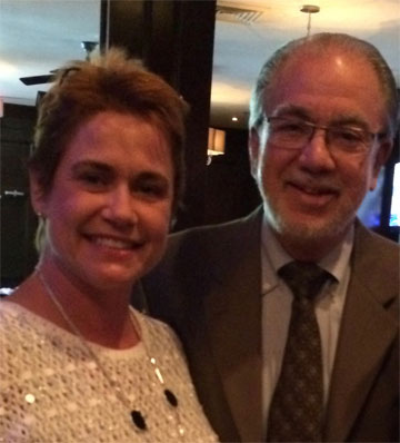Dr. Miltenburg and Dr. Jay Narness, President of the American Society of Breast Surgeons