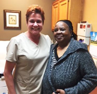 Image of patient with Dr. Miltenburg